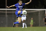 13 October 2011: Duke's Molly Lester. The University of North Carolina Tar Heels defeated the Duke University Blue Devils 1-0 at Fetzer Field in Chapel Hill, North Carolina in an NCAA Division I Women's Soccer game.