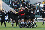 07 November 2010: Wake Forest players celebrate afte the win. The Wake Forest University Demon Deacons defeated the University of Maryland Terrapins 3-1 on penalty kicks after the game ended in a 1-1 tie after overtime at WakeMed Stadium in Cary, North Carolina in the ACC Women's Soccer Tournament championship game.