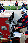 1 November 2009: Buffalo Bills play staff members remove play photos from the on-field printer during a game against the Houston Texans at Ralph Wilson Stadium in Orchard Park, New York, USA. The Texans defeated the Bills 31-10. Mandatory Credit: Ed Wolfstein Photo