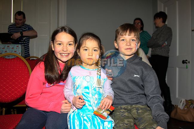 Kiera, Erin &amp; Connor McLeod at the Dunleer Film Club putting on 'Frozen: A Sing Along Version' in Market House Dunleer on Friday 24th January 2015.<br /> Picture:  Thos Caffrey / www.newsfile.ie