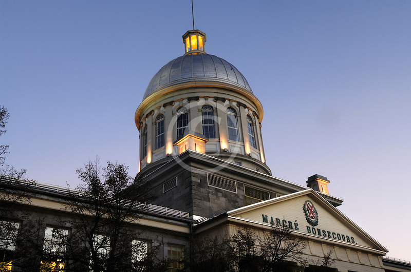 Canada, Montreal, Bonsecours Market, low angle view
