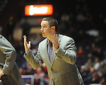 Ole Miss assistant coach Michael White vs. Auburn in Oxford, Miss. on Wednesday, February 24, 2010. Ole Miss won 85-75.