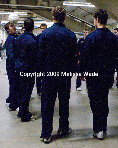 John Henrion (US - 16) - Members of Team USA had some fun in the zamboni area following practice the morning of Sunday, April 19, 2009, prior to their gold medal game against Russia in the 2009 World Under 18 Championship at the Urban Plains Center in Fargo, North Dakota.