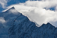 storm clouds blowing over Mt. Cook, New Zealand