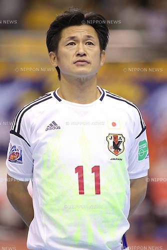 Kazuyoshi Miura (JPN),.NOVEMBER 1, 2012 - Futsal :.Kazuyoshi Miura of Japan before the FIFA Futsal World Cup Thailand 2012 Group C match between Brazil 4-1 Japan at Korat Chatchai Hall in Nakhon Ratchasima, Thailand. (Photo by Kenzaburo Matsuoka/AFLO)