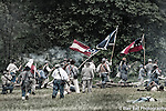 Shiloh the 150th anniversary of the battle between the Union and Confederate Armies. Shiloh 150th Anniversary of the reenactment of this famous battle where so many soldiers lost their lives.
