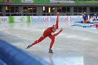 SCHAATSEN: AMSTERDAM: Olympisch Stadion, 28-02-2014, KPN NK Sprint/Allround, Coolste Baan van Nederland, Thijsje Oenema, ©foto Martin de Jong