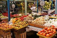 Fruit and vegetable stalls in the Mercado Pino Suarez market, Mazatlan, Sinaloa, Mexico