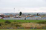Canvey Island 1 Harrow Borough 0, 17/10/2015. The Frost Financial Stadium, Ryman Premier League. Canvey Island in yellow play host to Harrow Borough in red in a Ryman Premier League match. The match was won by the home side by 1 goal to 0 and was watched by a crowd of 333. Canvey Island play at their home matches at The Frost Financial Stadium or Park Lane. The ground is a few feet below sea level, making it one of the only football stadiums in the UK to be as such. The ground has a capacity of over 4,500 and the stadium has reached its capacity on one occasion, when the team faced Northampton Town in the FA Cup in 2001. Photo by Simon Gill
