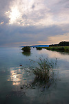 Lake Balaton from Szigliget marina at sunset - Hungary