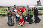 Group Photo Of Pacific Elementary School Students On Beach Cleanup