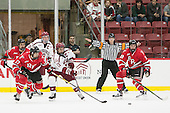 Lou Nanne (RPI - 23), Milos Bubela (RPI - 17), Jimmy Vesey (Harvard - 19), Kyle Criscuolo (Harvard - 11), Mike Prapavessis (RPI - 19) - The Harvard University Crimson defeated the visiting Rensselaer Polytechnic Institute Engineers 5-2 in game 1 of their ECAC quarterfinal series on Friday, March 11, 2016, at Bright-Landry Hockey Center in Boston, Massachusetts.