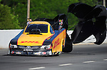 May 5, 2012; Commerce, GA, USA: NHRA funny car driver Jeff Arend during qualifying for the Southern Nationals at Atlanta Dragway. Mandatory Credit: Mark J. Rebilas-