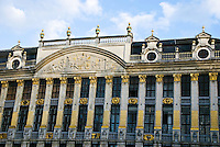"The ""House of Dukes of Brabant"" sits on the eastern side of the Grand Place in Brussels, Belgium."
