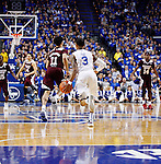 UK guard,Tyler Ulis, pacing back after a turnover in their game against the bulldogs at Rupp Arena in Lexington, Ky. on Tuesday,January 12, 2016. Photo by Josh Mott | Staff.
