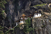 Taktsang Monastery also called Tiger Nest is situated on a nearly vertical cliff at 3000m altitude north of Paro in Bhutan. A number of famous masters have meditated in caves near the current monastery: Guru Rinpoche in his manifestation of Dorje Drollö meditated on the Kagyé cycle. After him, many great masters followed, among them were Milarepa, Padampa Sangye, Machik Lapdrön and Thangtong Gyalpo. Arindam Mukherjee..