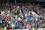St Johnstone v Rosenborg....25.07.13  Europa League Qualifier<br /> Saints fans celebrates Stevie May's goal<br /> Picture by Graeme Hart.<br /> Copyright Perthshire Picture Agency<br /> Tel: 01738 623350  Mobile: 07990 594431
