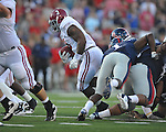 Alabama running back Trent Richardson (3) runs vs. Ole Miss at Vaught-Hemingway Stadium in Oxford, Miss. on Saturday, October 14, 2011. Alabama won 52-7.