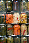 Pickled good sin shop window in Istanbul, Turkey