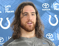 Anthony Castonzo at the Indianapolis Colts Press Conference at The Grove Hotel, Chandlers Cross, Watford, Herts. Indianapolis are here to play in the latest NFL International Series game at Wembley Stadium vs Jacksonville Jaguars on Sunday October 2nd 2016 - Pictured on September 30th 2016<br /> CAP/JIL<br /> &copy; Jill Mayhew/Capital Pictures /MediaPunch ***NORTH AND SOUTH AMERICAS ONLY***
