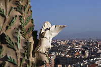 Tree of Life, Nativity façade, La Sagrada Familia, Roman Catholic basilica, Barcelona, Catalonia, Spain, built by Antoni Gaudí (Reus 1852 ? Barcelona 1926) from 1883 to his death. Still incomplete. Picture by Manuel Cohen