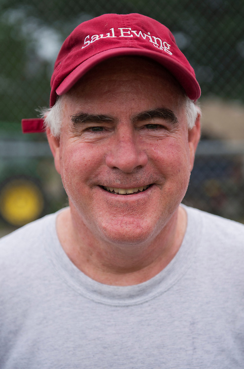 UNITED STATES - JUNE 1:  Rep. Pat Meehan, R-Pa., is photographed at a republican baseball practice at Simpson Stadium in Alexandria, Va.  (Photo By Tom Williams/CQ Roll Call)