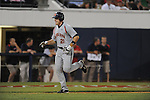Auburn's Kevin Patterson hits a three run home run in the 8th inning against Mississippi during a college baseball game in Oxford, Miss. on Thursday, May 20, 2010.  Auburn won 5-3.