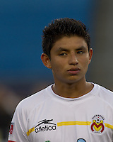Monarcas Morelia forward Miguel Sansores (19). The New England Revolution defeated Monarcas Morelia in SuperLiga 2010 group stage match, 1-0, at Gillette Stadium on July 20, 2010.