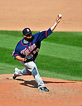 6 September 2009: Minnesota Twins' relief pitcher Jose Mijares on the mound against the Cleveland Indians at Progressive Field in Cleveland, Ohio. The Indians defeated the Twins 3-1 to take the rubber match of their three-game weekend series. Mandatory Credit: Ed Wolfstein Photo
