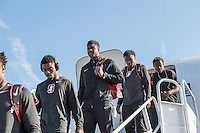 Stanford, Ca - September 23, 2016: The Stanford Cardinal Football Team travel day to UCLA