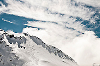 Wintry mountain scene at Baumann Glacier, Westland National Park, West Coast, New Zealand