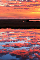 Sunup at over the marsh at Bodie Island on the Outer Banks.