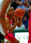 26 January 2010: University of Hartford Hawks' forward/center Diana Delva, a Senior from Stamford, CT, scored 20 points in action against the University of Vermont Catamounts at Patrick Gymnasium in Burlington, Vermont. The Hawks defeated the Lady Cats 38-36 in a closely matched America East contest. Mandatory Credit: Ed Wolfstein Photo