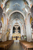 Interior of Saint George Orthodox Cathedral, Beirut, Lebanon