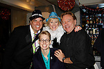 Dale Badway sings and hosts New Year's Eve 2016 and Times Square Ball Drop and poses with Aaron Darr and performers Missy Keene and Ken Lundie at The Copacabana, New York City, New York. (Photo by Sue Coflin/Max Photos)  suemax13@optonline.net