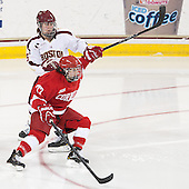 Alex Carpenter (BC - 5), Laura Fortino (Cornell - 77) - The Boston College Eagles defeated the visiting Cornell University Big Red 4-3 (OT) on Sunday, January 11, 2012, at Kelley Rink in Conte Forum in Chestnut Hill, Massachusetts.