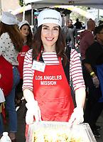 LOS ANGELES, CA - April 14: Ana de la Reguera, At Los Angeles Mission's Easter Celebration For The Homeless At Los Angeles Mission  In California on April 14, 2017. <br /> CAP/MPI/FS<br /> &copy;FS/MPI/Capital Pictures