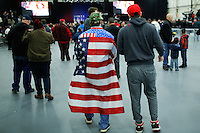 BETHPAGE, NY - APRIL 6 : Supporters of Republican presidential candidate Donald Trump arrive at a rally on April 6, 2016 in Bethpage, New York. Front-running Republican candidate Trump will address supporters on the heels of a potentially damaging loss in the Wisconsin primary. Photo by VIEWpress