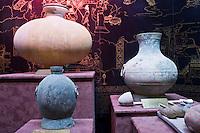Artefacts on display at the Han Dynasty Tomb of Han Yang Ling, Xian, China