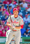 7 September 2014: Philadelphia Phillies outfielder Darin Ruf in action against the Washington Nationals at Nationals Park in Washington, DC. The Phillies fell to the Nationals 3-2 in their final meeting of the season. Mandatory Credit: Ed Wolfstein Photo *** RAW (NEF) Image File Available ***