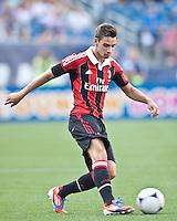 AC Milan defender Mattia De Sciglio (2).  AC Milan defeated Olimpia 3-1 at Gillette Stadium on August 4, 2012