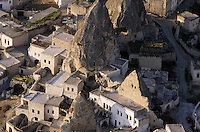 Goreme, Cappadocia, Turkey, July 2005. Our own fairy chimney. Dutch Photographer Frits Meyst and his wife Jillian Macdonald restored an old rock house in the village of Goreme. Since Roman Times people have been cutting graves and home out of the Soft tufo 'Fairy Chmney' rocks of Cappadocia. Photo by Frits Meyst / MeystPhoto.com