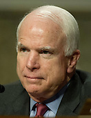 United States Senator John McCain (Republican of Arizona), Ranking Member, U.S. Senate Armed Services Committee, listens as General John R. Allen, USMC, Commander, International Security Assistance Force and Commander, United States Forces Afghanistan, testifies before the committee on the situation in Afghanistan on Capitol Hill in Washington, D.C. on Thursday, March 22, 2012..Credit: Ron Sachs / CNP