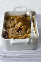 Europe/France/Midi-Pyrénées/46/Lot/ Cahors: Pieds de porc aux safran du quercy -recette de Martine Bouchet