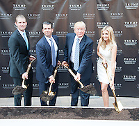 WASHINGTON, DC - JULY 23: (L to R) Eric Trump, Donald Trump Jr., Donald Trump and Ivanka Trump at groundbreaking ceremony for the Trump International Hotel on July 23, 2014 in Washington, D.C. Photo Credit: RTNMelvin/MediaPunch