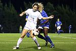 31 October 2013: North Carolina's Kealia Ohai. The University of North Carolina Tar Heels hosted the Duke University Blue Devils at Fetzer Field in Chapel Hill, NC in a 2013 NCAA Division I Women's Soccer match. North Carolina won the game 3-0.