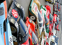 Porsches on display at the Rennsport Reunion, Daytona INternational Speedway, Daytona Beach, FL, November 2007.  (Photo by Brian Cleary/www.bcpix.com)