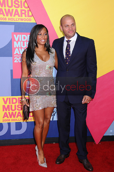 Melanie Brown and Stephen Belafonte<br />at the 2008 MTV Video Music Awards. Paramount Pictures Studios, Los Angeles, CA. 09-07-08<br />Dave Edwards/DailyCeleb.com 818-249-4998