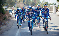 Enrico Gasparotto (ITA/Wanty-Groupe Gobert) &amp; Antoine Demoiti&eacute; (BEL/Wanty-Groupe Gobert) riding up front<br /> <br /> Pro Cycling Team Wanty-Groupe Gobert <br /> <br /> Pre-season Training Camp, january 2016