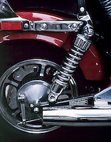 MOTORCYCLE SHOCK ABSORBER<br /> Example Of A Spring<br /> A shock absorber dissipates energy, reducing the effect of riding over rough terrain.